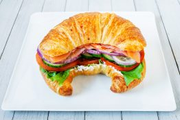 Smoked Salmon & Cheese Croissant Sandwich