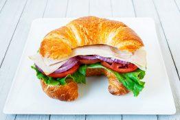 Smoked Turkey Croissant Sandwich