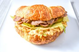 Steak and Cheese Croissant Sandwich