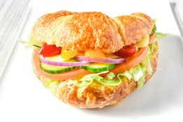 Veggie and Cheese Croissant Sandwich