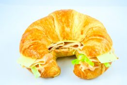 Oven Roasted Turkey Croissant Sandwich