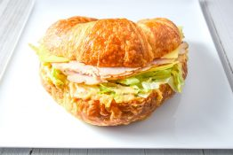Oven Roasted Turkey and Cheese Croissant Sandwich