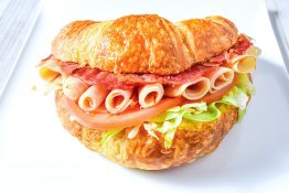 Turkey Bacon Club Croissant Sandwich